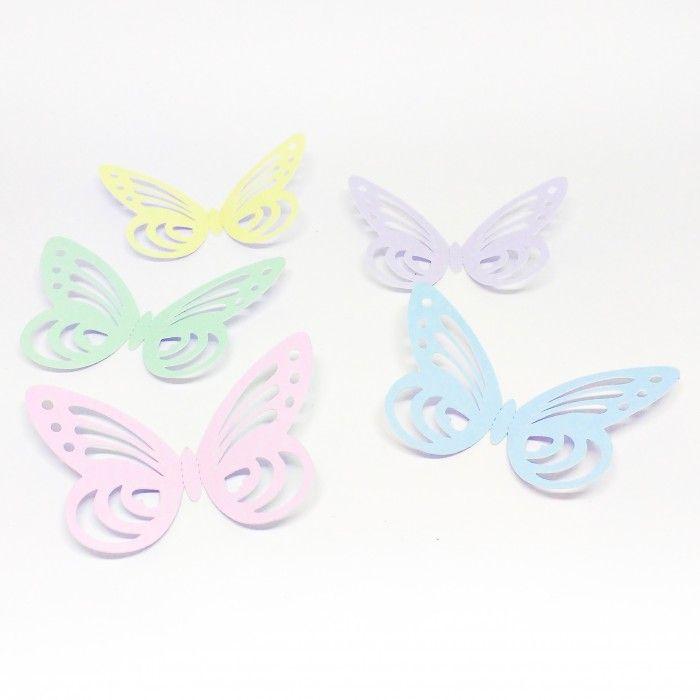 Borboleta de asas vazadas - Jardim das borboletas - Temas | Taitai Convites e Lembrancinhas