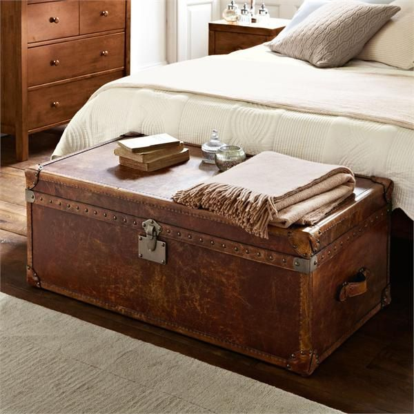 Our new Houston end of bed trunk is vintage inspired and beautiful for storing cosy throws. #featherandblak