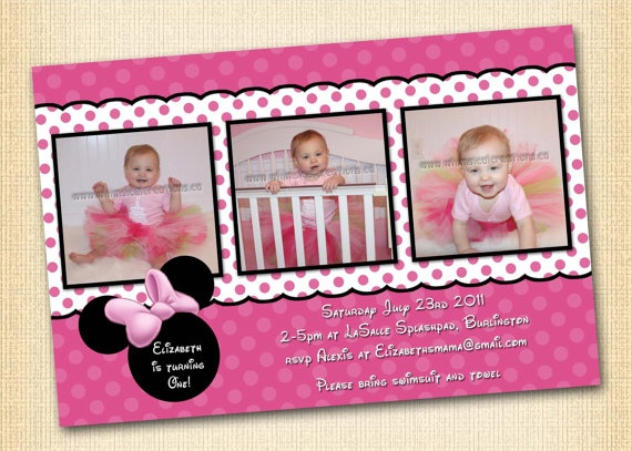 222 best minnie mouse invitation cards images on pinterest, Birthday invitations