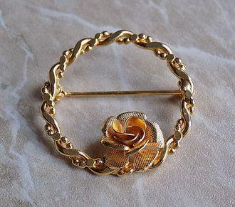 Роза в рамке, винтаж из Англии