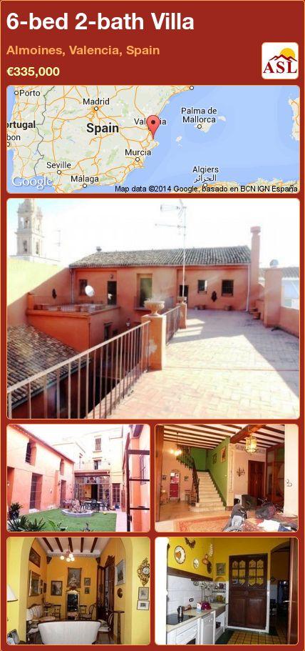 6-bed 2-bath Villa in Almoines, Valencia, Spain ►€335,000 #PropertyForSaleInSpain