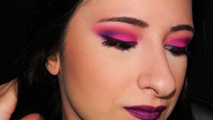 Neon make up tutorial - Electric palette UD - Tinte labbra come eyeliner?