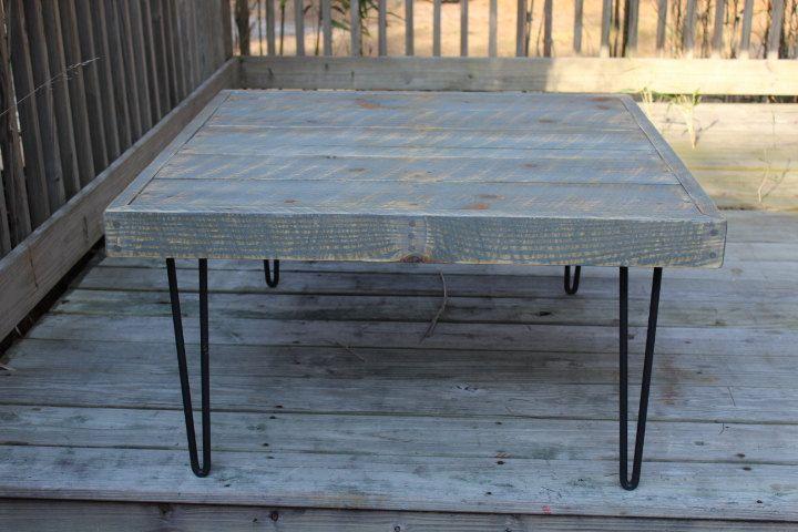 Reclaimed wood coffee table industrial urban rustic for Coffee tables urban barn