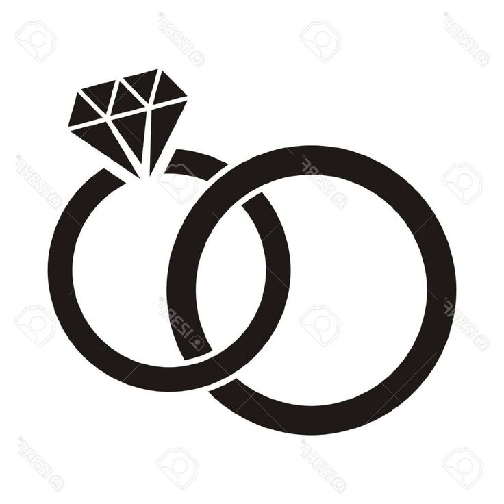 Diamond Ring Clipart Black And White Wedding Ring