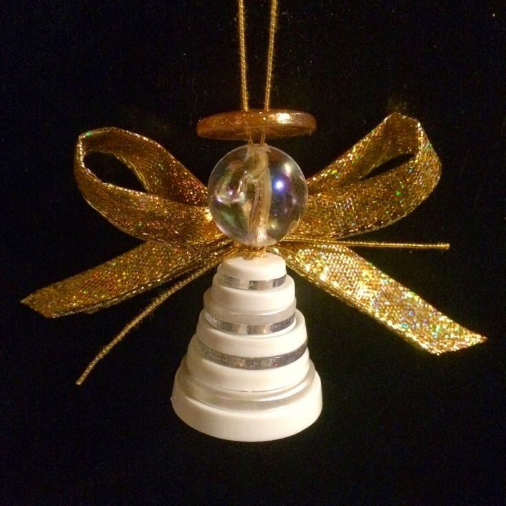 Angel Button Ornaments - Christmas Crafts