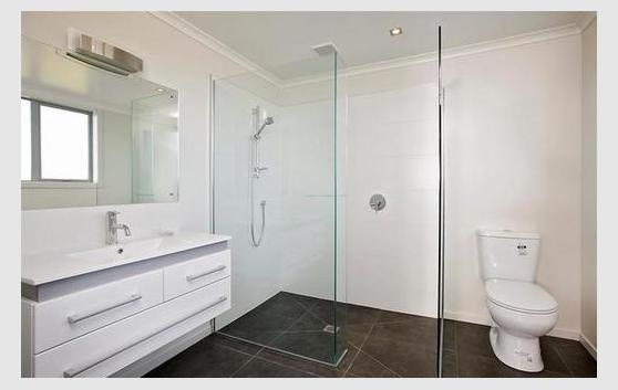 ensuite bathroom quite nice, will need selves too
