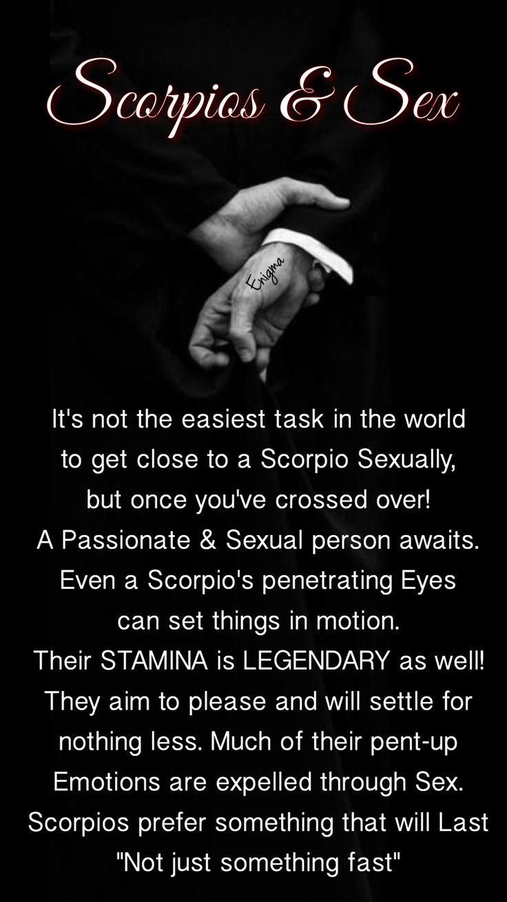 Scorpio's penetrating eyes can mesmerise . . .