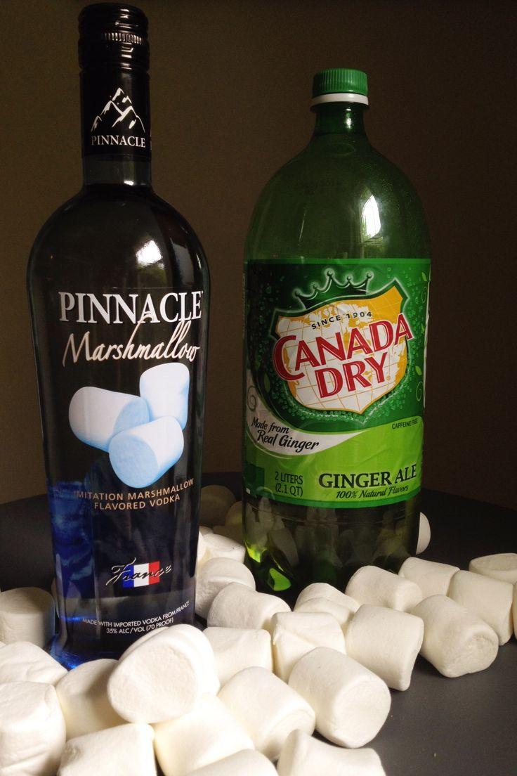 Marshmallow Flavored Pinnacle Vodka cocktail