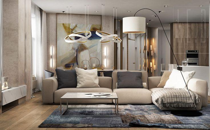 Локация: г.Киев, ЖК «Парус» Тип: дизайн интерьера квартиры Площадь: 181 м² Год: 2016