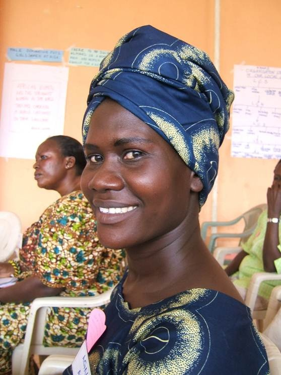 Agness Obizu from Arua in Uganda. She is establishing herself as an entrepreneur in her village - entertaining at social events. Full of pluck and enterprise!