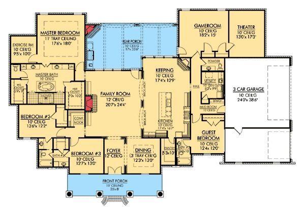 17 best ideas about european house plans on pinterest for Corner lot house plans
