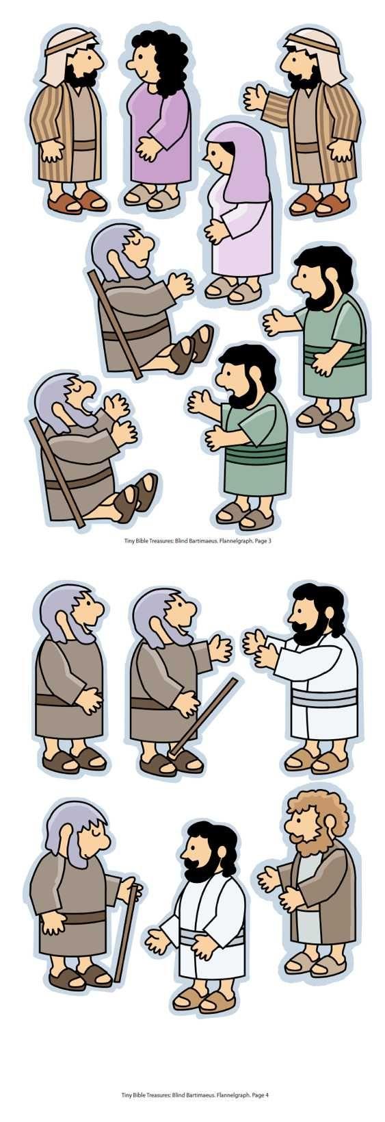 De blinde Bartimeüs, flanelplaten voor kleuters, kleuteridee.nl , Bartimaeus, Flannel Bible Sheets, free printable 2