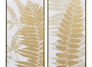 Cuadro impresión hojas oro