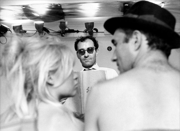 Godard working on Le Mépris/Contempt, 1963 w. Brigitte Bardot and Michel Piccoli…