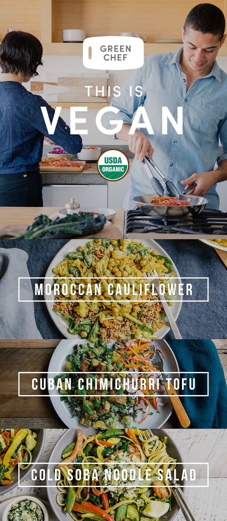 2017? More like Twenty-Seven-Green! This is the year to go vegan. Cook organic, delicious, plant-based meals crafted by Green Chef. We deliver fresh ingredients and easy recipes right to you. Sign up today for $50 OFF