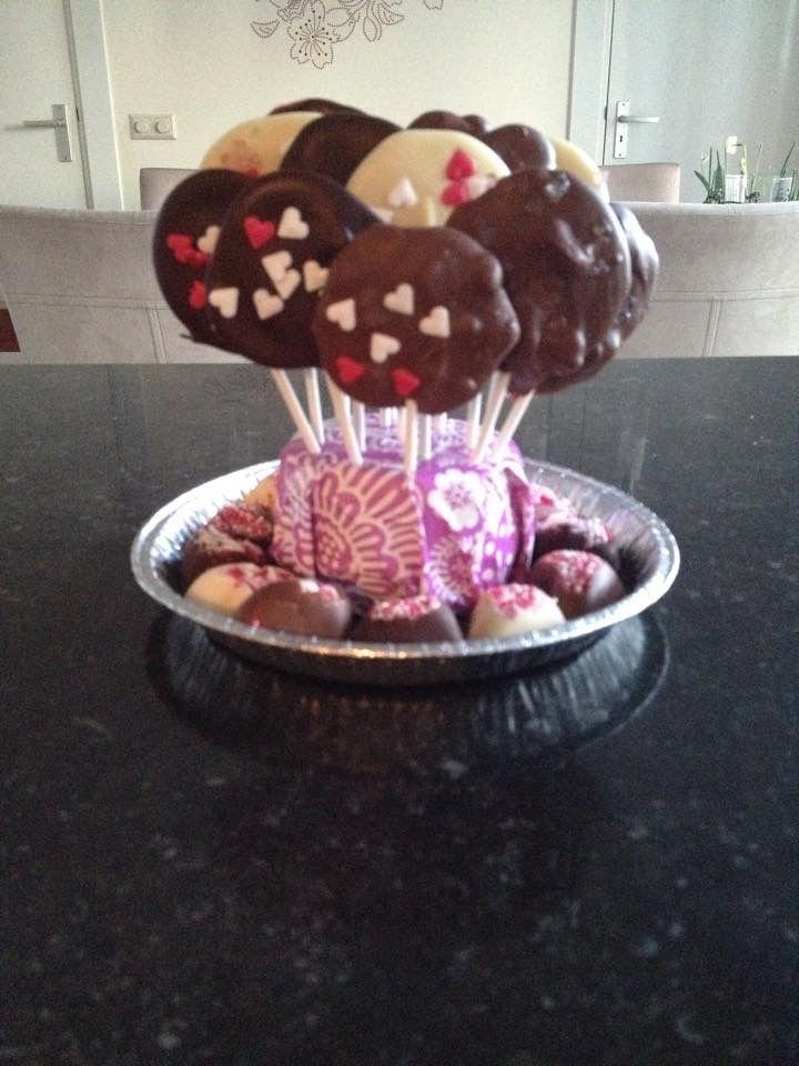 Chocolade lolly en chocolaatjes met decoratie sandra 39 s for Decoratie chocolade
