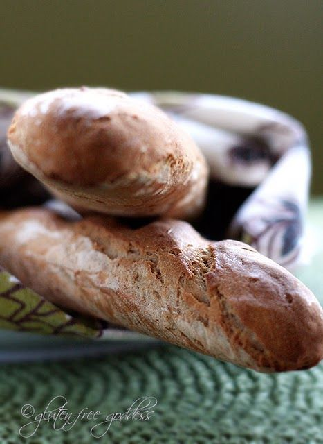 Easy gluten-free baguettes made with Pamela's wheat-free bread mix.