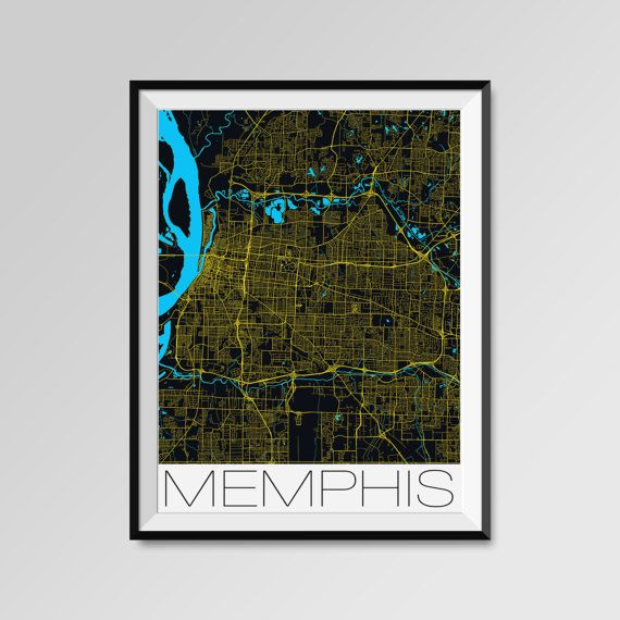 Memphis Map Print - Minimalist City Map Art of Memphis Poster - Wall Art Gift - COLORS - white, blue, red, yellow, violet Memphis map, Memphis print, Memphis poster, Memphis map art, Memphis gift  More styles - Memphis - maps on the link below https://www.etsy.com/shop/PFposters?search_query=Memphis