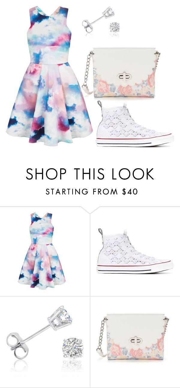 Casual/Going out by isabellamateus on Polyvore featuring Yumi, Converse, Candie's and Amanda Rose Collection