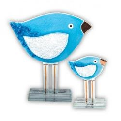 Fused Glass -Blue Bird by Nobile Glassware. Available from www.artworx.co.uk