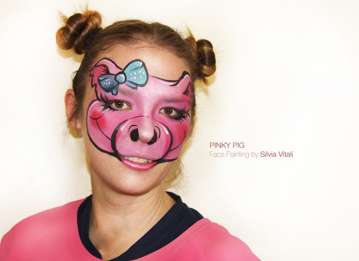 PIG-MAIALINO Face Painting by Silvia Vitali