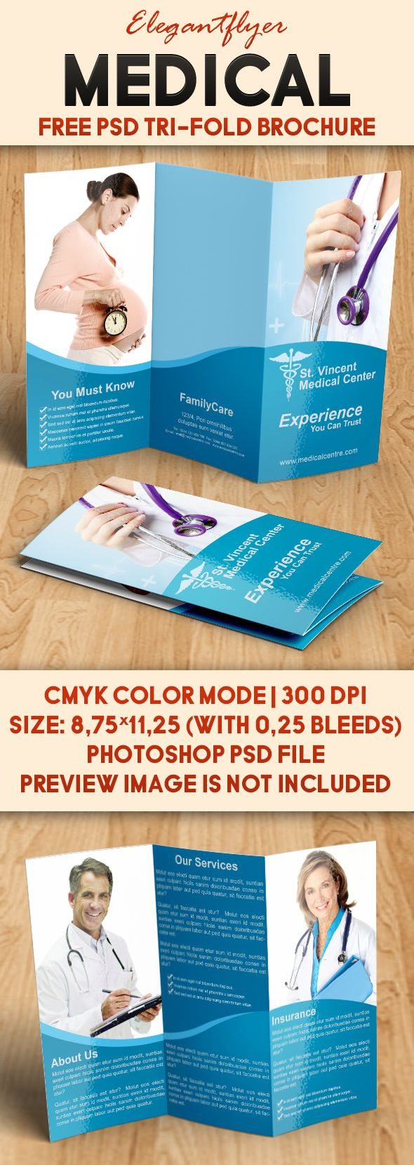 Best Free Brochure Ideas On Pinterest Free Booklet Template - Free medical brochure templates