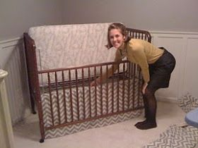 Design A-Peele: How to make a Crib Bed Skirt