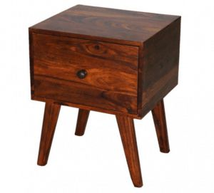 Retro style Indian sheesham wood one-drawer bedside table from Scape Interiors West