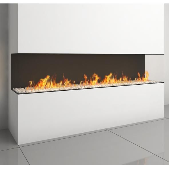 Ortal |         Ortal Clear TS 200 Three Sided Glass Gas Fire