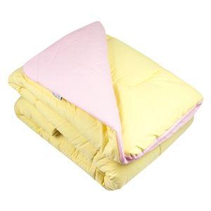 Edredom rosa claro / amarelo claro