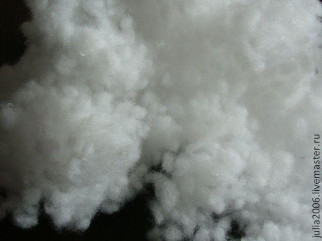 Купить Холлофайбер в шариках. Наполнитель для подушек и игрушек (200г) - белый, наполнитель для игрушек, наполнитель, тильда