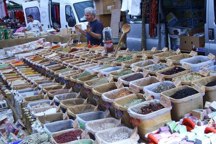 Spice stall in Kalkan Market