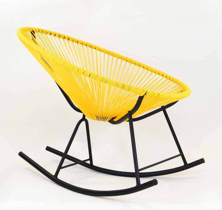 Based on time-honored Mayan hammock weaving technology the Acapulco Rocking Chair is an indoor/outdoor lounge chair that unifies tradition with innovation and harmonizes the function of ergonomic comfort with retro-modern aesthetic form. The Acapulco Rocking Chair is in every way cool. Its weave perfectly cradles the body within its clean lines without suffocating and offers a character of casual sophistication to every home or institution.