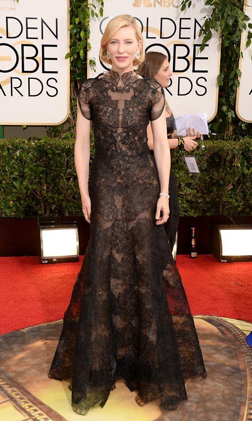 Cate Blanchett bei den Golden Globes 2014 in Armani Privé