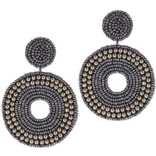 Kenneth Jay Lane Women's Blue Beaded Earrings ($118) ❤ liked on Polyvore featuring jewelry, earrings, accessories, dark denim, post back earrings, post earrings, kenneth jay lane jewelry, blue jewelry and beading jewelry