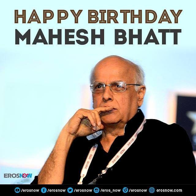 A very Happy Birthday to the Bollywood director and visionary #MaheshBhatt.