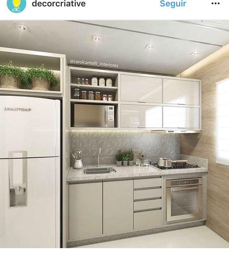 Pin de lourdes casta o en cocinas pinterest cocinas for Cocinas apartamentos pequenos