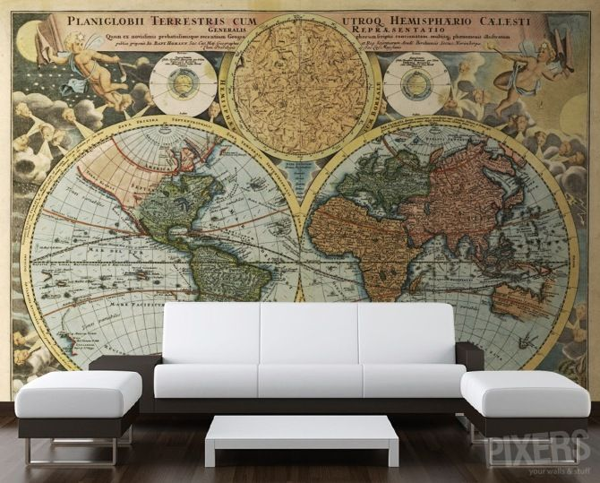 32 best World Map on a Wall images on Pinterest Maps, World maps - best of world map for wall mural