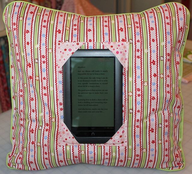Kindle/nook/tablet pillow holder - need one more boyish for Gavin soon - he's saving up for at least the nook color (maybe even the tablet).