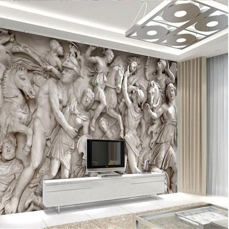 25 beste idee n over 3d behang op pinterest slaapkamer ontwerp grijs slaapkamerontwerp en - Behang voor restaurant ...