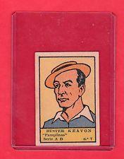 1930's  Buster Keaton Spanish Film Star Card  ESTRELLAS DE CINE  Rare