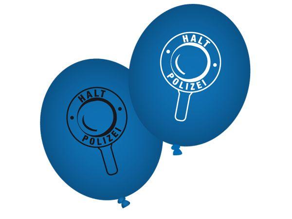Mit dem Ballonset Polizei kann man eine Polizeiparty wundervoll dekorieren. Die Ballons findet ihr bei www.party-princess.de