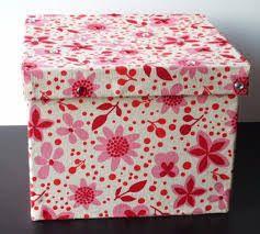 תוצאת תמונה עבור cajas forradas en tela retro