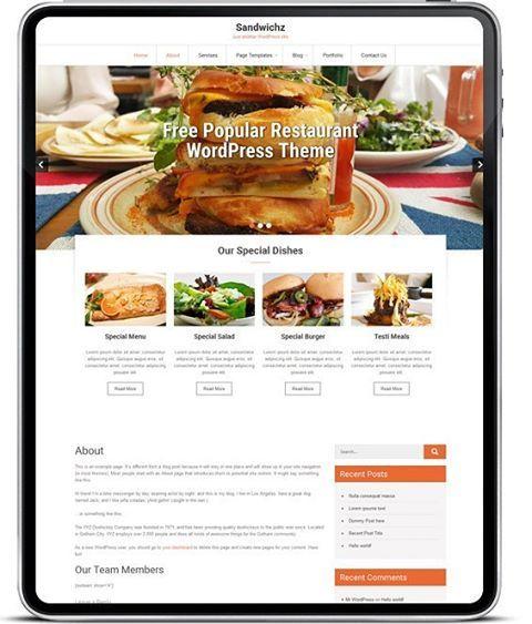 #Sandwichz  #Free #popular #top #restaurant #WordPressTheme This is ideal to setup an online restaurant business #fullyCustomizable know more about the #sandwichzTheme on https://goo.gl/kdW0EA  #zylothemes. http://www.zylothemes.com