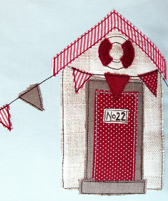 Beach Hut Cushion - Detail by Jenny Arnott, via Flickr