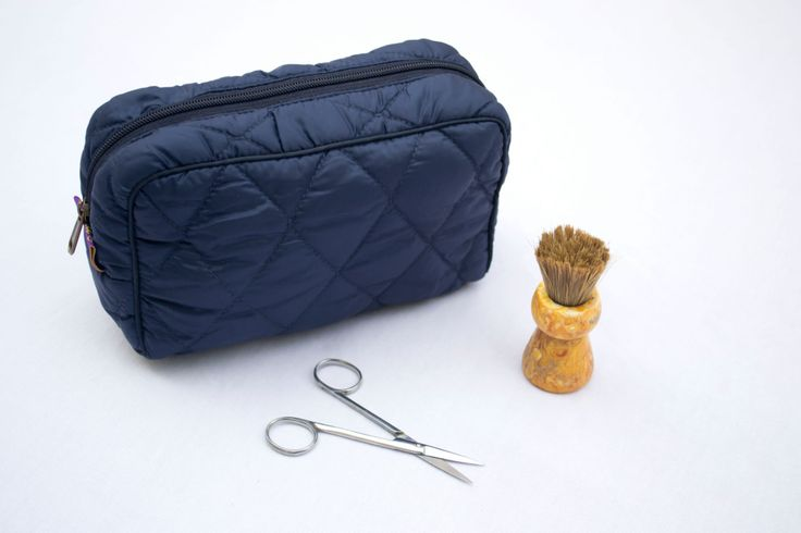 Travel Kit, Travel Case for men, Navy blue pouch, Utility pouch, Utility kit, Shaving pouch, Toiletries pouch, Quilted pouch, Zipper pouch by Orunie on Etsy