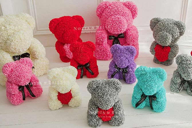 Notta Belle 3d Teddy Bear Made Of Roses Uk Free Delivery Romantic Valentines Gift Valentine Gifts Romantic Valentine