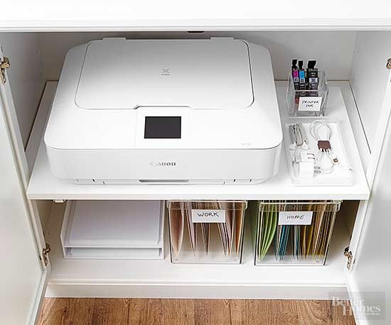 Hidden Printer Storage, I Already Have One Of These! | Small Apartment |  Pinterest | Printer Storage, Storage And Organizations