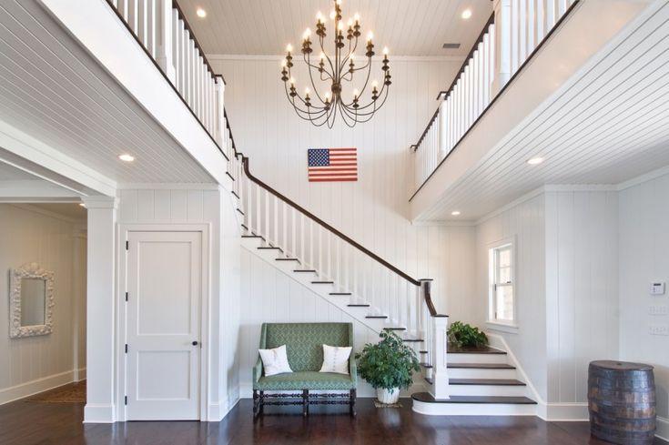 Hamptons Double Foyer with Stairway