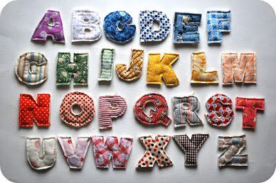 Chez Beeper Bebe: Tutorial: How to Make a Plush Alphabet
